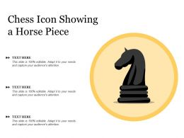 Chess Icon Showing A Horse Piece