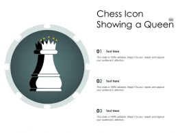 Chess Icon Showing A Queen