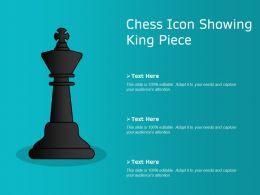 Chess Icon Showing King Piece