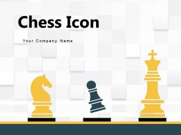 Chess Icon Strategy Circle Hand Showing Displaying