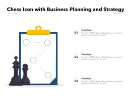 Chess Icon With Business Planning And Strategy