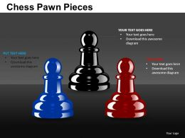 Chess Pawn Pieces Powerpoint Presentation Slides DB