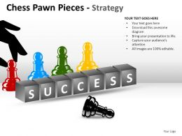 Chess Pawn Pieces Strategy Powerpoint Presentation Slides