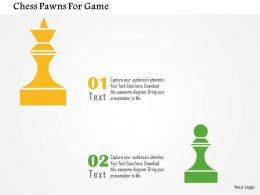 Chess Pawns For Game Flat Powerpoint Design