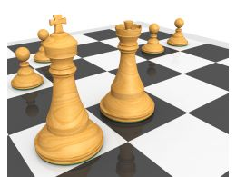Chess Pawns With Leadership Concept Stock Photo