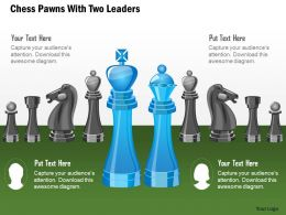 Chess Pawns With Two Leaders Powerpoint Template