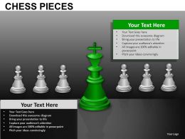 Chess Pieces Powerpoint Presentation Slides db