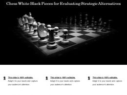 Chess White Black Pieces For Evaluating Strategic Alternatives
