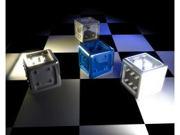 Chessboard And 3D Dices Business Leadership Stock Photo