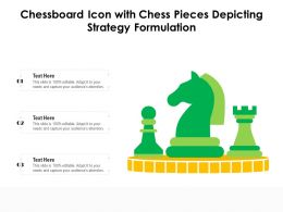 Chessboard Icon With Chess Pieces Depicting Strategy Formulation