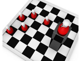 Chessboard With Pawn As Leader Stock Photo