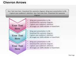Chevron Arrows PowerPoint Template Slide