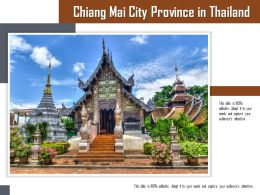 Chiang Mai City Province In Thailand