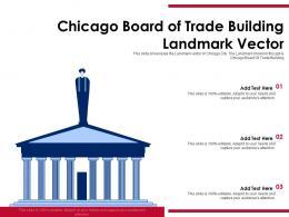 Chicago Board Of Trade Building Landmark Vector Powerpoint Template