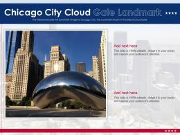 Chicago City Cloud Gate Landmark Powerpoint Presentation Ppt Template