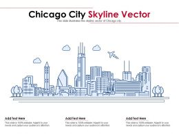 Chicago City Skyline Vector Powerpoint Presentation PPT Template