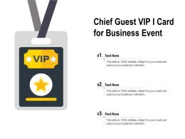 Chief Guest VIP I Card For Business Event