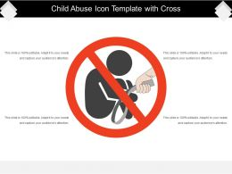 Child Abuse Icon Template With Cross