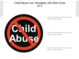 Child Abuse Icon Templates With Red Cross On It