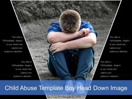 Child Abuse Template Boy Head Down Image