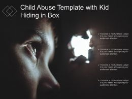 Child Abuse Template With Kid Hiding In Box
