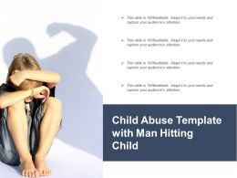 Child Abuse Template With Man Hitting Child