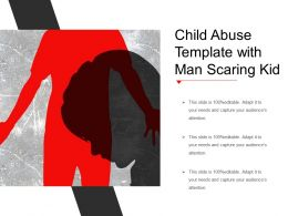 Child Abuse Template With Man Scaring Kid