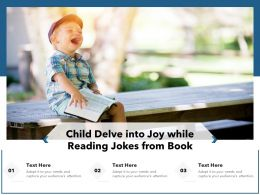 Child Delve Into Joy While Reading Jokes From Book