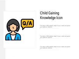 Child Gaining Knowledge Icon