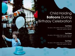 Child Holding Balloons During Birthday Celebration
