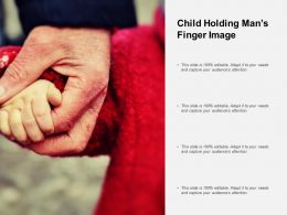 Child Holding Mans Finger Image