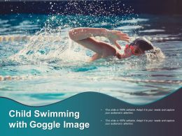 Child Swimming With Goggle Image