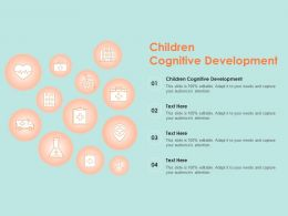 Children Cognitive Development Ppt Powerpoint Presentation File Maker