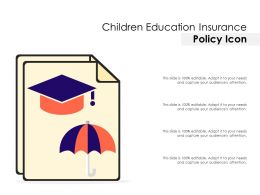 Children Education Insurance Policy Icon