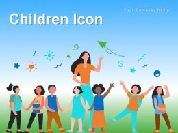 Children Icon Purpose Playing Outside Touching Picture Silhouette Jumping