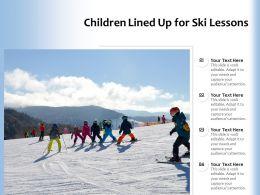 Children Lined Up For Ski Lessons