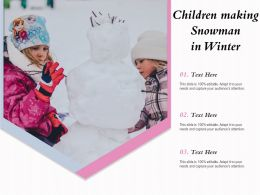 Children Making Snowman In Winter