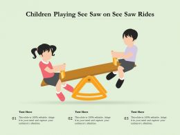 Children Playing See Saw On See Saw Rides