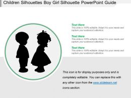 Children Silhouettes Boy Girl Silhouette Powerpoint Guide