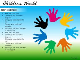 Children World Powerpoint Presentation Slides db