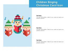Childrens Singing Christmas Carol Icon