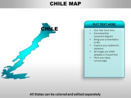 Chile Country Powerpoint Maps