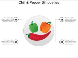 Chili And Pepper Silhouettes