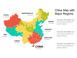 China Map With Major Regions