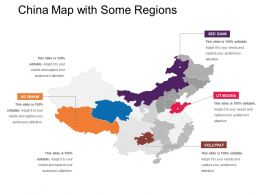 China Map With Some Regions