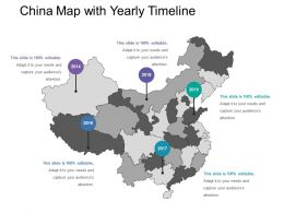 China Map With Yearly Timeline