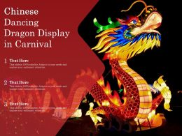 Chinese Dancing Dragon Display In Carnival