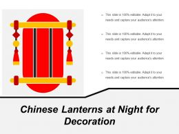 Chinese Lanterns At Night For Decoration