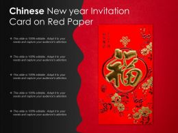 Chinese New Year Invitation Card On Red Paper