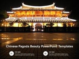 Chinese Pagoda Beauty Powerpoint Templates
